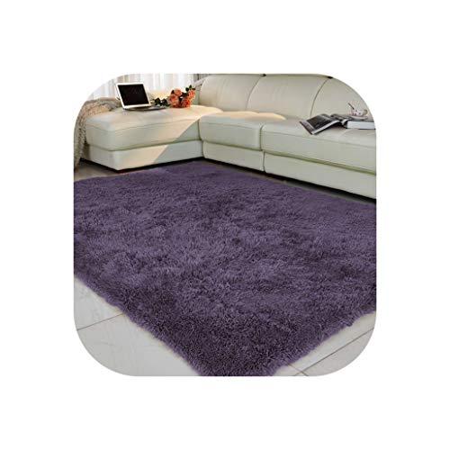 Living Room Carpet European Fluffy Mat Kids Room Rug Bedroom Mat Anti Skid Soft Faux Fur Area Rug Rectangle Mats Black red,11,60x160cm
