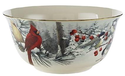 Amazon lenox winter greetings scenic gold banded fine china lenox winter greetings scenic gold banded fine china large serving bowl m4hsunfo