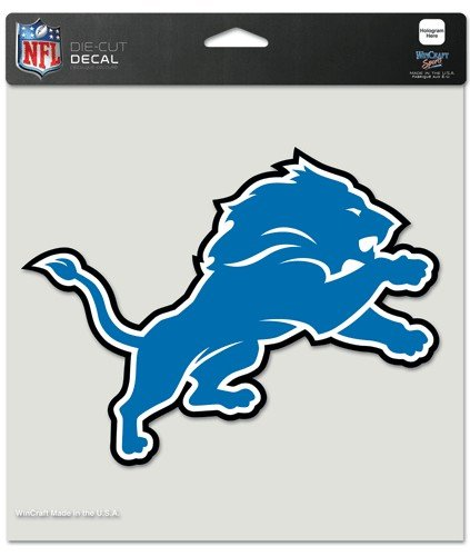 Price comparison product image Detroit Lions 8x8 COLOR Die Cut Window Cling