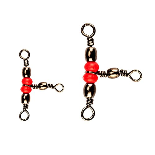Red Brass Fishing Barrel Triple Swivels Fishing Tackle #5 (3 Brass Barrel)