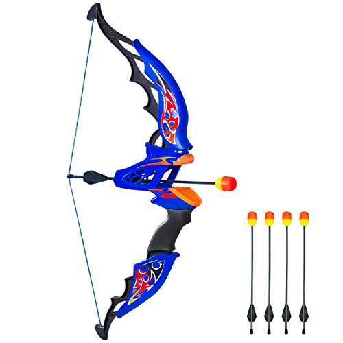Best Choice Products Kids Toy Archery Bow and Arrow Set with Bow, 4 Soft Foam Dart Arrows by Best Choice Products