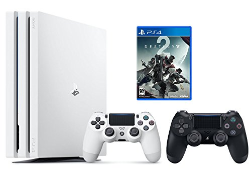 PS4 Destiny 2 Bundle (2 Items): PlayStation 4 Pro 1TB Limited Edition Console – Destiny 2 Bundle and an Extra DualShock 4 Wireless Controller for Playstation 4 – Jet Black