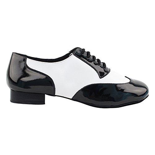 """50 Shades Of Men Standard 1 """"Heel Dance Kleid Schuhe Sammlung (Breite Breite verfügbar): Komfort Ballsaal, Standard, glatt, Latein, Salsa, Kunst von Party Party Cm100101 Schwarz Patent & Weiß"""