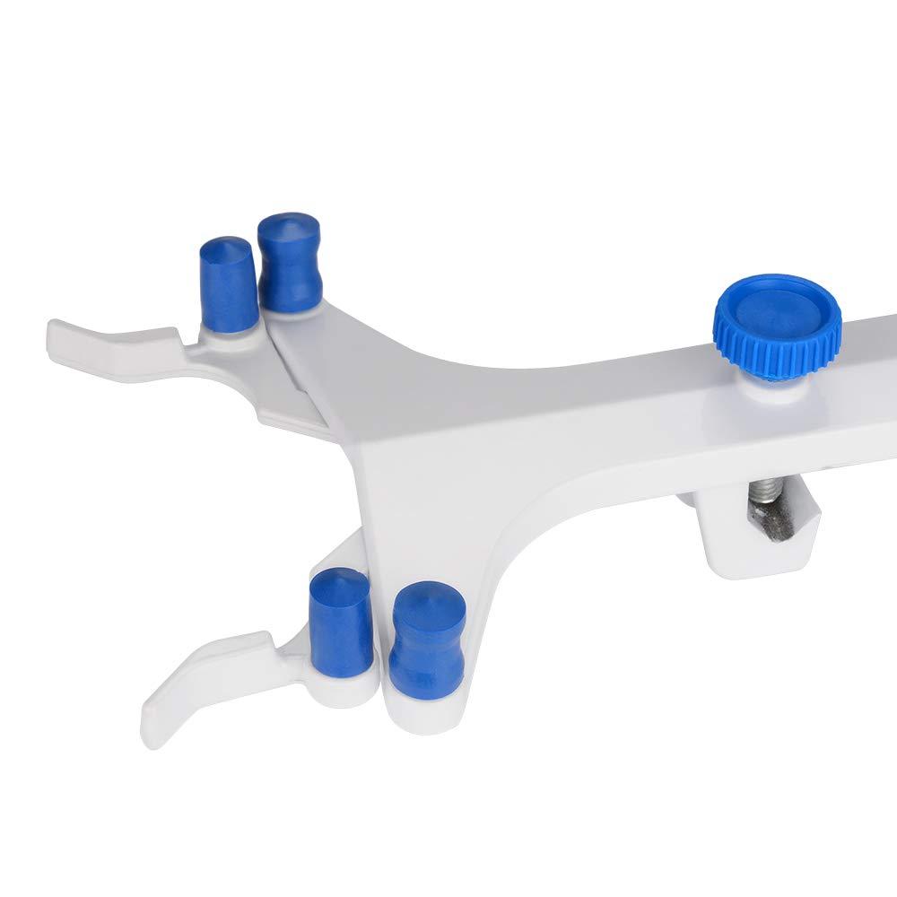 stonylab Doppio Morsetto per Buretta in Alluminio Regolabile Morsetti per Buretta a Forma di Farfalla Accessorio da Laboratorio Aluminum Double Burette Clamp per Laboratorio