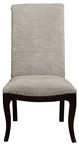 Homelegance Savion Contemporary Side Chair with Rolled Back and Nailheads, Espresso