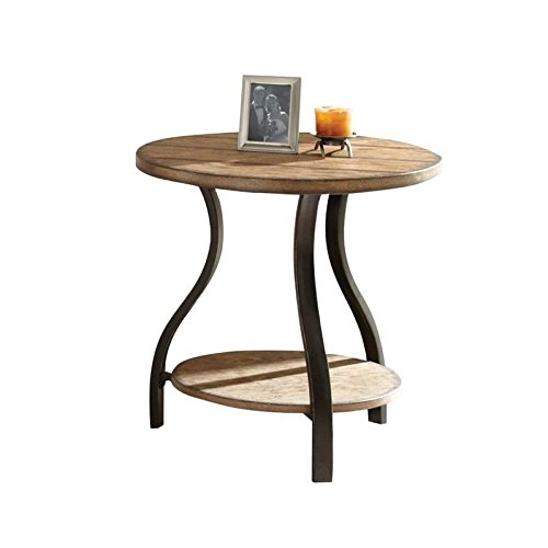 Super Amazon Com Bowery Hill Round End Table In Light Oak Finish Forskolin Free Trial Chair Design Images Forskolin Free Trialorg