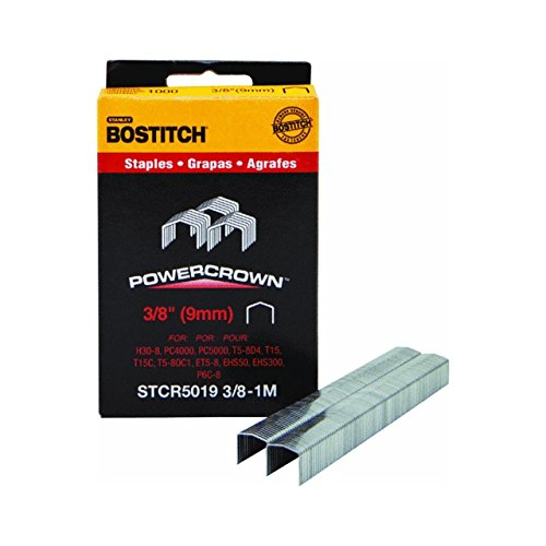 Stanley Bostitch STCR5019-3/8-1M 3/8-Inch Staple, 1000-Pack ()
