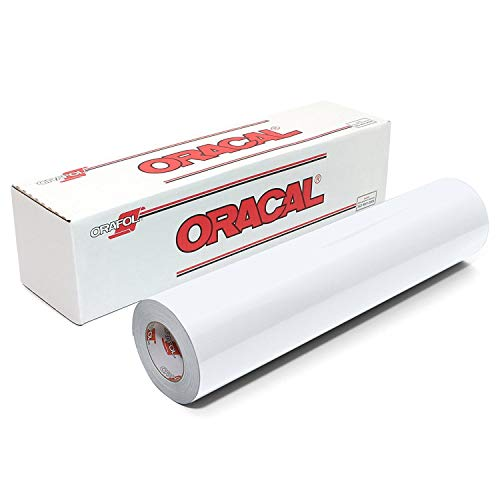 (Roll of Matte Oracal 631 Removable vinyl works with all vinyl cutters - White - 12