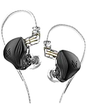 KZ ZEX Statische Dynamic Drive Hybrid Oortelefoon HiFi Bass Oordopjes Sport Passieve Ruisonderdrukking HD Headset Afneembare Kabel (Zonder microfoon, zwart)