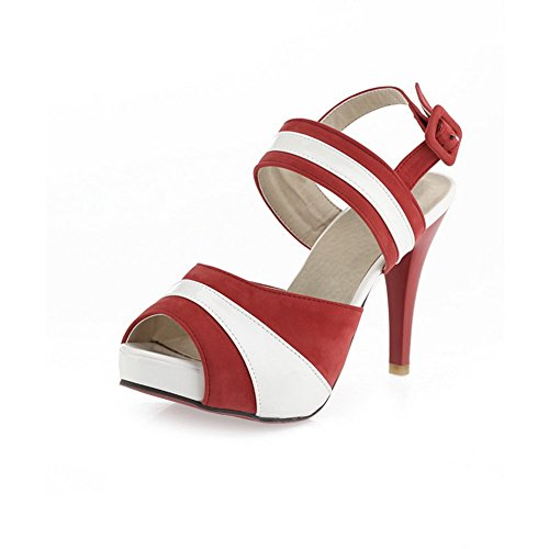 Rojo Varios De winered Señoras Colores Granate Sandalias Cuero Adee nw7ICxfqgx