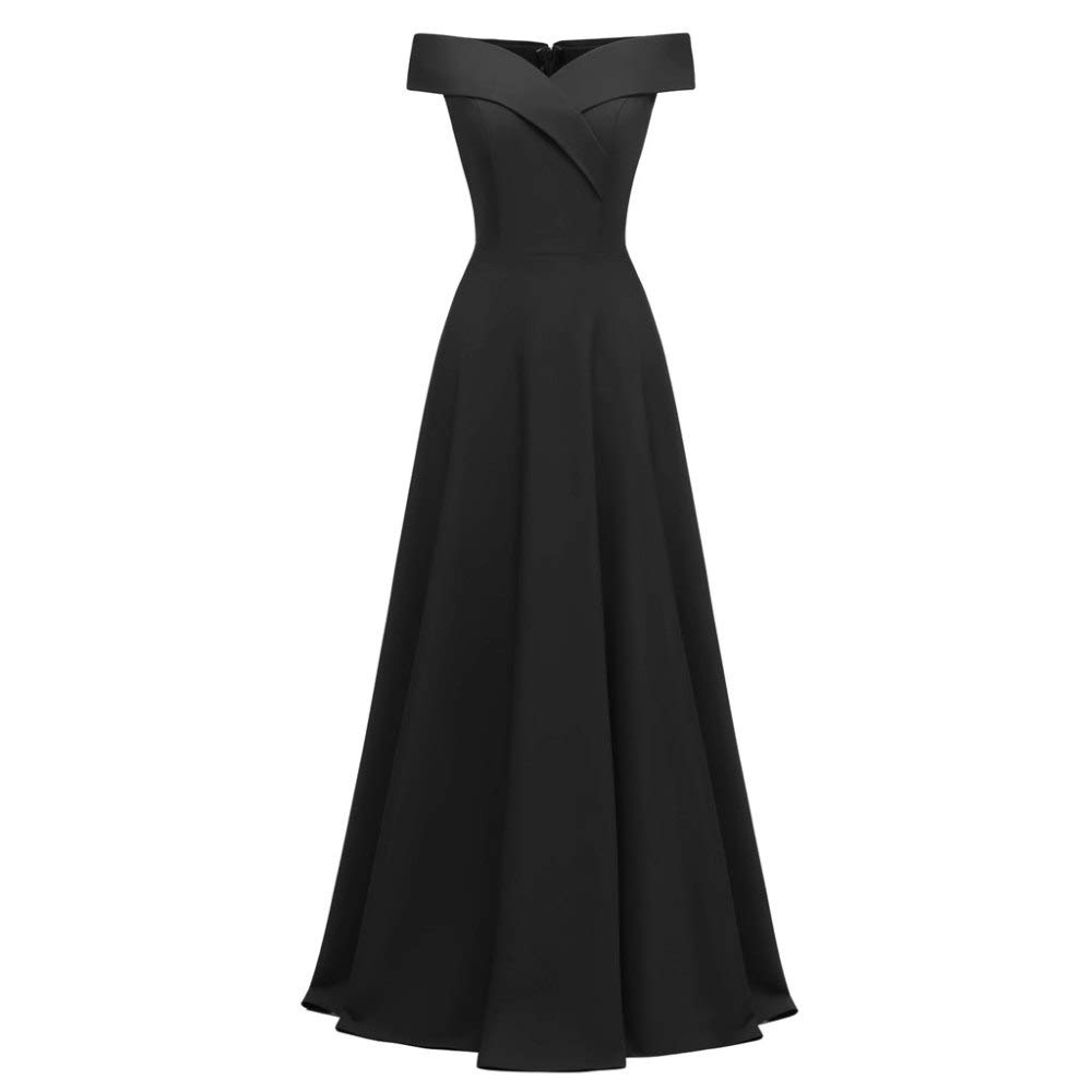 Black Women's Clothing Sexy Sleeveless Slim Fit Swing Party Evening Gowns Dress,RedS