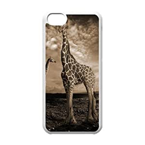 linJUN FENGProtection Cover Hard Case Of Giraffe Cell phone Case For ipod touch 5