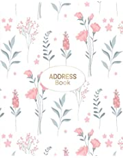 Address Book: Floral Personal Address Book with Alphabet Tabs   Keep track of more than 500 Address Entries