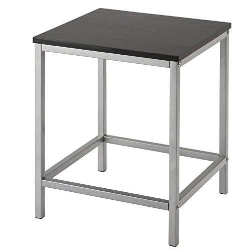 Inalsa MESITA Auxiliar Metalica, Metal, Silver/Black, 40x40x5