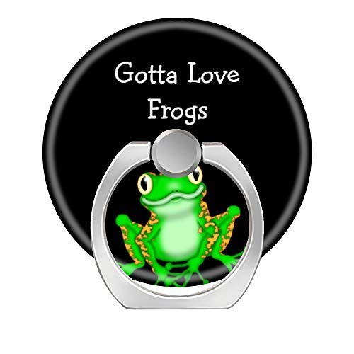 - LoveStand-Cell Phone Ring Holder 360 Degree Finger Ring Stand for Smartphone Tablet and Car Mount-Cute Frog