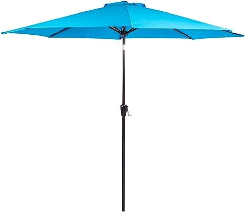 Sundale Outdoor 10FT Patio Umbrella Table Umbrella Market Umbrella with Aluminum Pole Auto Tilt, Polyester Canopy Shade for Patio, Garden, Deck, Backyard, Pool, Blue
