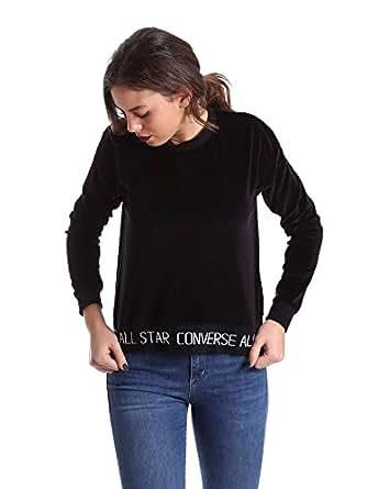 Imagen no disponible. Imagen no disponible del. Color: Converse 10006185 Sudadera Mujeres ...