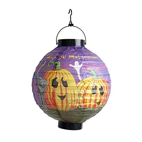 Willsa 1 PC Halloween Party Decorations Paper Spider Ghost Bats Lantern -