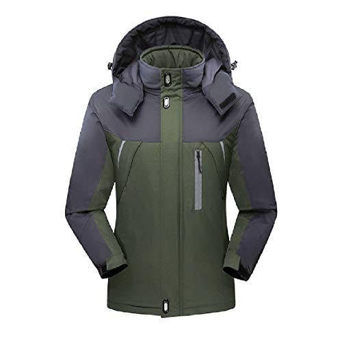 Warm Howme Outwear Men Waterproof Fleece Full Zip Active Jacket Down Green Army rxHI5qxwUn