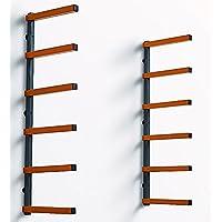 Portamate PBR-001 Wood Storage Lumber Organizer Rack, Wall Mount