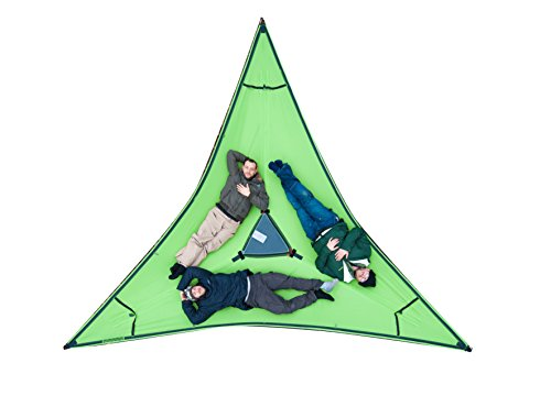Tentsile Trillium - Tensioned Triple Hammock - 3 Person - Green Fabric
