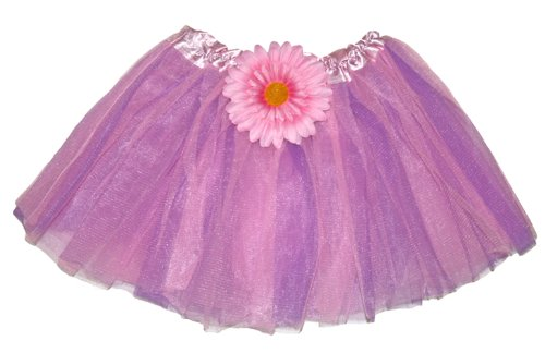 Girls Tutu Skirt Purple Pink Gerbera Fairy Ballerina Costume Toddler Infant Tulle Ballet Birthday Party Favor Outfit Gerbera Favors
