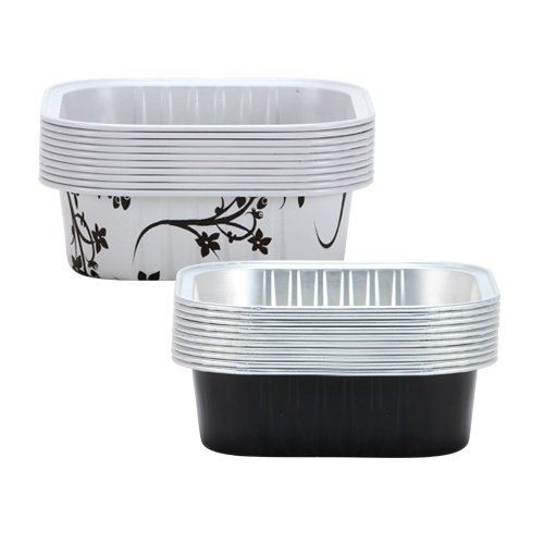 Hanna K. Signature 15007 Square Aluminum Baking Pans, 2 3/4'', Black by Hanna K Signature