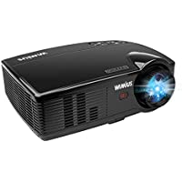 Projector, WiMiUS Video Projector 3200 Lumens Native Resolution 720P Support 1080P Home Theater Projector for iPhone/iPad/Smartphones, PC, Laptop, TV Stick, XBOX etc. (Black)