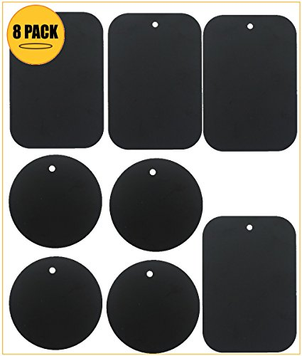 kebelor-8-pack-metal-plate-replacement-for-magnetic-cradle-less-mount-4-rounded-4-rectangular-metal-