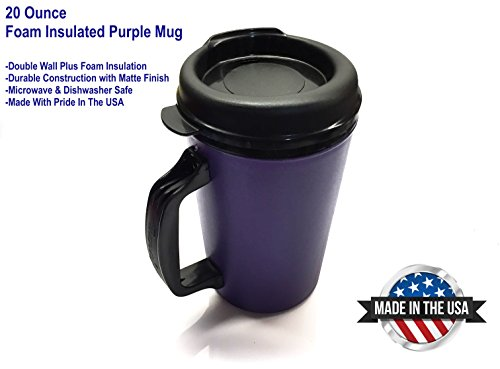20 Oz Thermoserv Foam Insulated Coffee Mug - Purple
