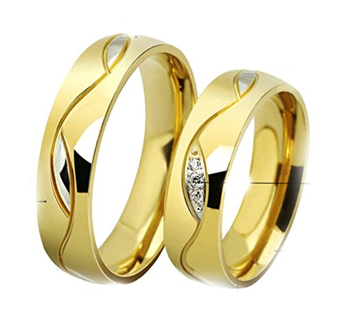 [Gnzoe Men Womens Stainless Steel Eternal Love Friendship Wedding Band Couple Rings] (Paper Bag Princess Couples Costume)
