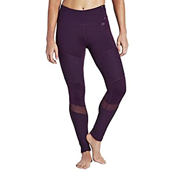 e228fec48b602 CALIA by Carrie Underwood Women's Plus Size Pieced Moto Tights (Gothic  Plum, ...