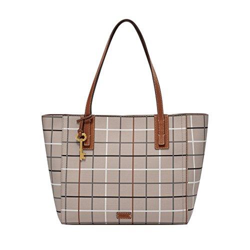 Fossil Damen Tasche Emma - Shopper - Shoppers y bolsos de hombro Mujer Gris (Grey)