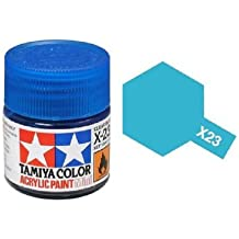 Tamiya Models X-23 Mini Acrylic Paint, Clear Blue