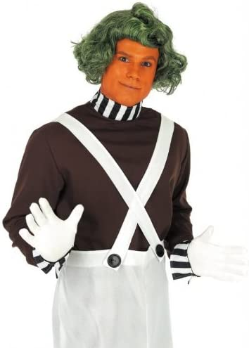 Adult Mens Charlie Chocolate Factory Costume Oompa Loompa Umpa Lumpa Fancy Dress