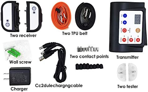 Control 3 Dogs Meanwhile Dog Fence Containment System with Rechargeable Kacsoo Wireless Dog Fence with 2 Training Collars Operating in 1 Remote Indoor/& Outdoor Waterproof Stable Signal Adjustable
