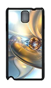 Abstract 3D Backgrounds PC Case and Cover for Samsung Galaxy Note 3 Note III N9000 Black