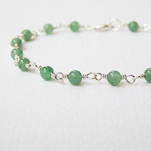 Green Aventurine Bracelet in Sterling Silver