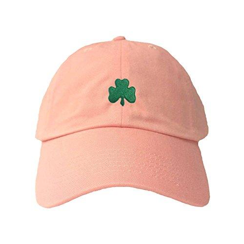 Adjustable Pink Adult Shamrock St. Patrick's Day Embroidered Dad Hat