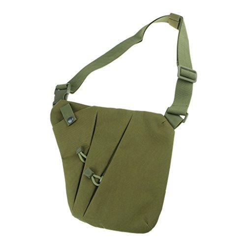 Belt Right Resistant Reflective Shoulder Magideal Night Cp Green Zipper Cloth Left a Bag Chest tracolla Qxford Pocket Borsa Antifurto Iazqpzx