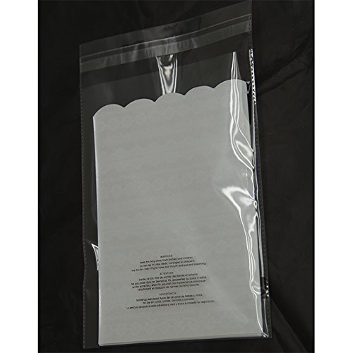 100 10x13 Suffocation Warning Resealable Self Seal Flap Tape Clear Poly Bags Cello Cellophane Polypropylene OPP Bags 1.5 Mil By ValueMailers by ValueMailers (Image #2)