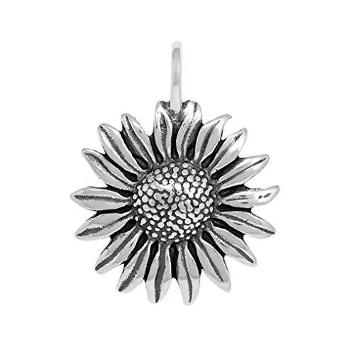 Raposa Elegance Sterling Silver Sunflower Pendant (approximately 30.5 mm x 21.5 mm) ()