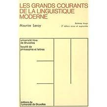 Grands Courants de Linguistique Moderne