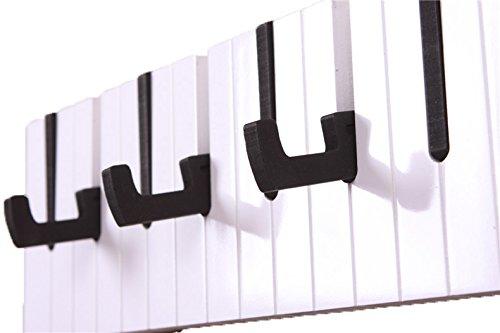 UCA Perchero de pared con 9 ganchos(Diseño de Piano,50 x 15 ...