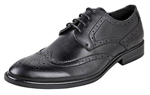 Ethan Design (Urban Fox Men's Ethan Oxford Dress Shoes For Men | Formal | Lace-Up | Classic Design | Wingtip | Mens Dress Shoes Black/Black 10)