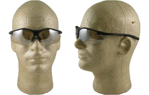 Pyramex Fortress Safety Eyewear, Indoor/Outdoor Mirror Lens With Black Frame