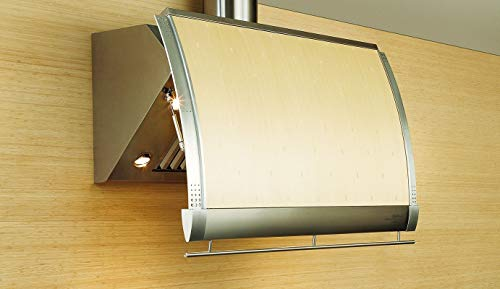 (Zephyr CSH-E48SX Stainless Steel Wall Mounted Shade Wall Hood with 3-Speed Ventilation Touch Controls Stainless Steel Baffle Filters 4 Dual Level Halogen Lamps and Retractable Canopy (Renewed))