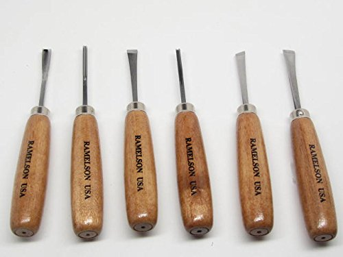 Ramelson 6pc Small Wood Carving Gunsmithing Decoy Set 116R