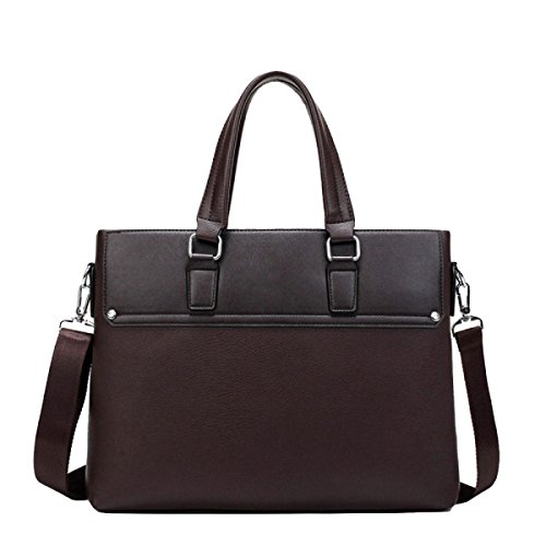 Men Large Capacity Section Handbag Brown Messenger Casual Shoulder Fashion Cross Bag Business rOwqp8rSR