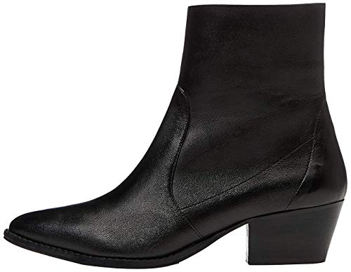 Amazon Brand - find. Women's Unlined Western Leather Ankle Boots